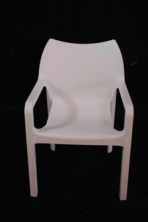 Krzesło Dionisio White Arm chair Outlet