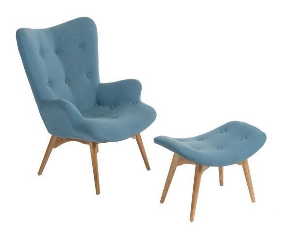 Fotel z podnóżkiem Contour - cena: - D2. www.dkwadrat.pl
